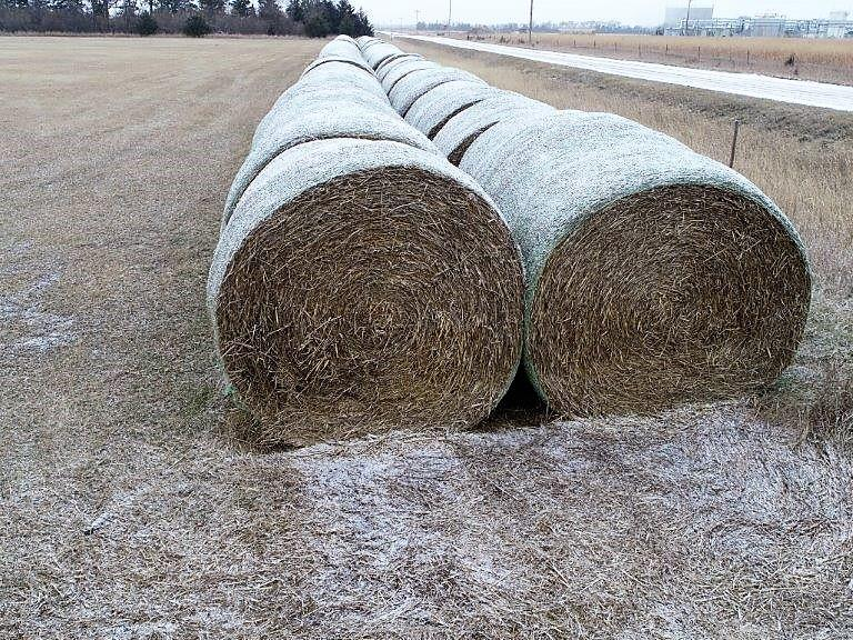34 Bales of Rye Straw Round Bales - Bidding is $/Ton - Online Auction