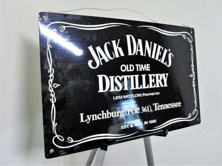 "Jack Daniels Hardened Steel Sign - 23x14.5"" 1992 Vintage Lynchburg! - Online Auction"
