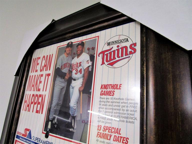 Minnesota Twins 1987 Super America Promotional Calendar - Ultra Rare NM - Professional Framing - Online Auction