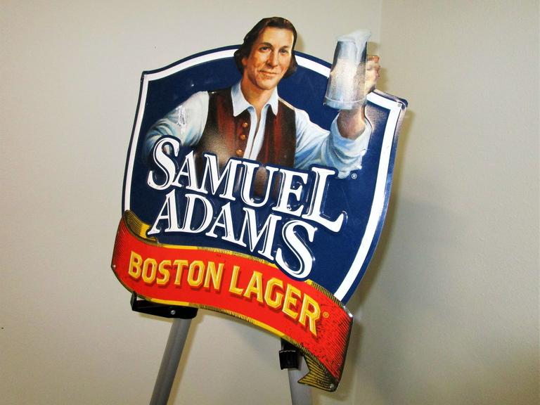 "Samuel Adams Bar Sign - 14x16"" Pub Crawl Boston Lager Signage - Great Coloration - Online Auction"