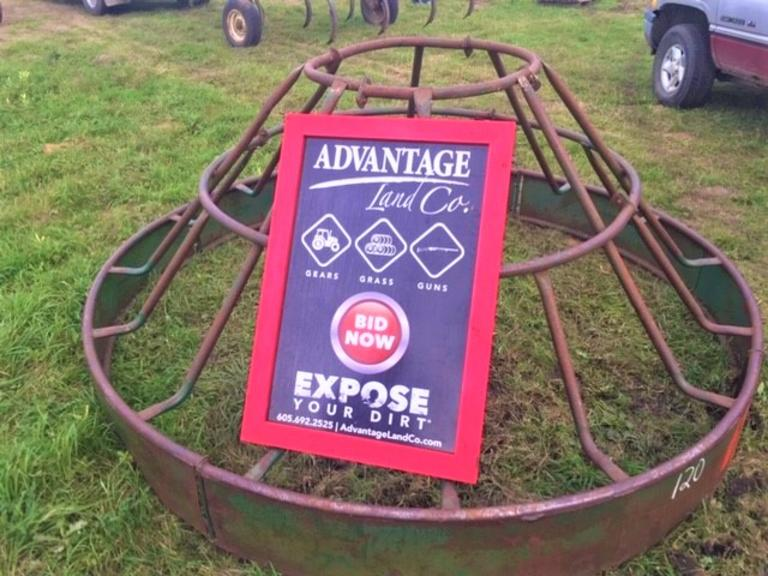 Bale Feeder - 9 foot ring - Great Shape - Online Auction