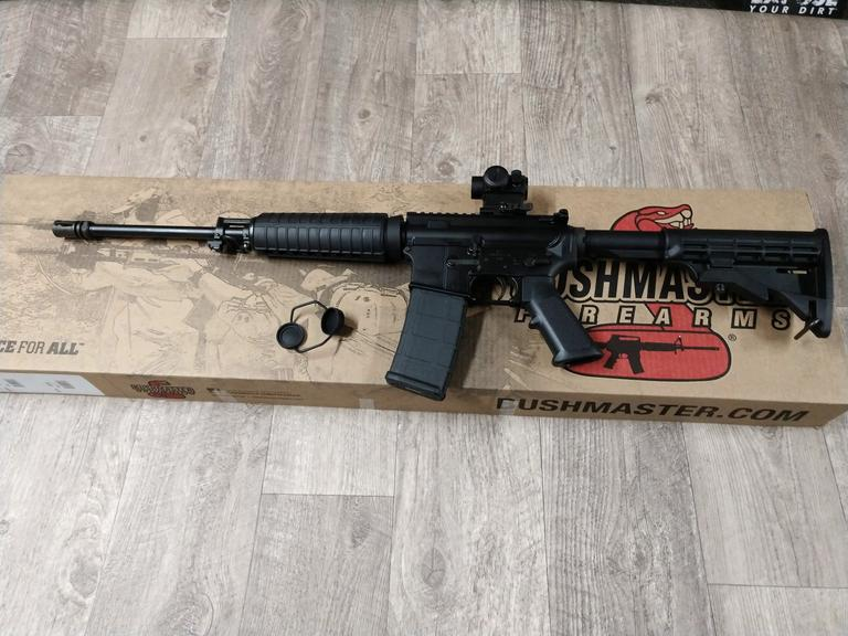 Bushmaster AR-15 with RT-5 Red Dot Scope - Online Auction