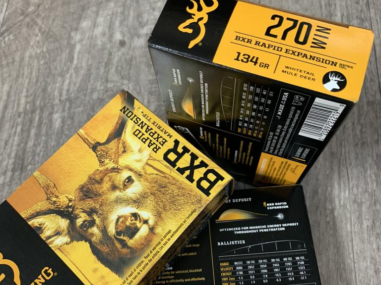 3 Boxes of Browning Ammuniton .270 Win Ammo - Bidding is Per Box  - Online